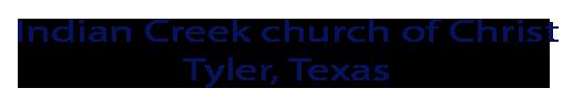 Indian Creek church of Christ